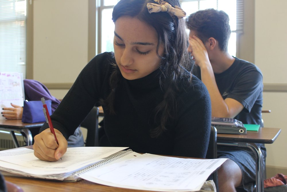 Students face the stress of multiple tests on a daily basis.
