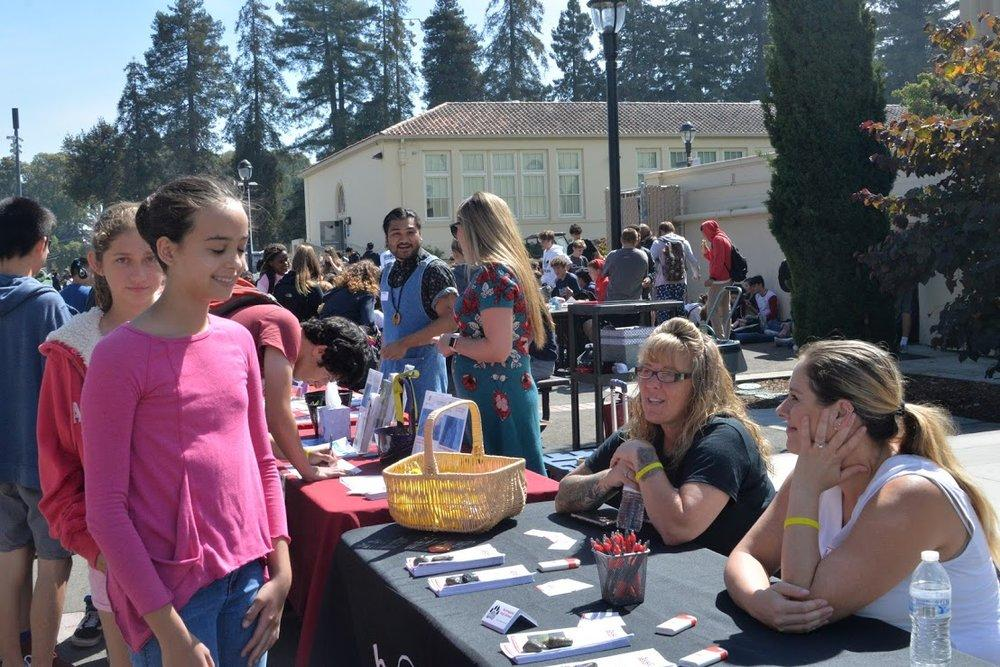 Representatives from local mental health services were available to talk to students and provide them with resources.