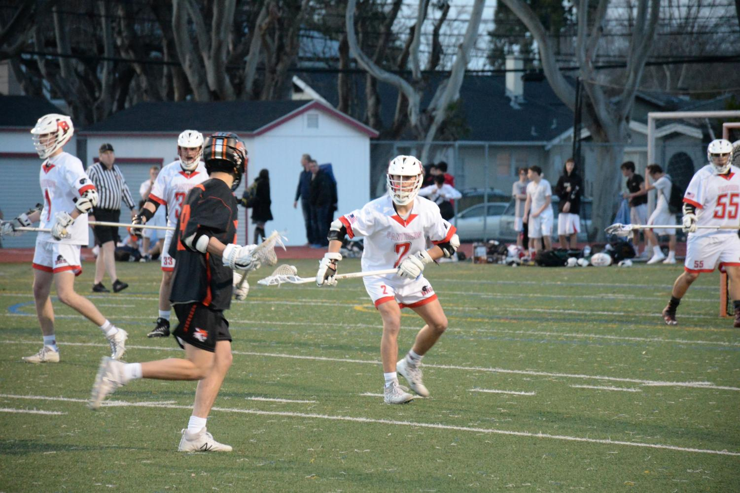 Junior middy Kyle Botelho takes up a defensive stance against Los Gatos.