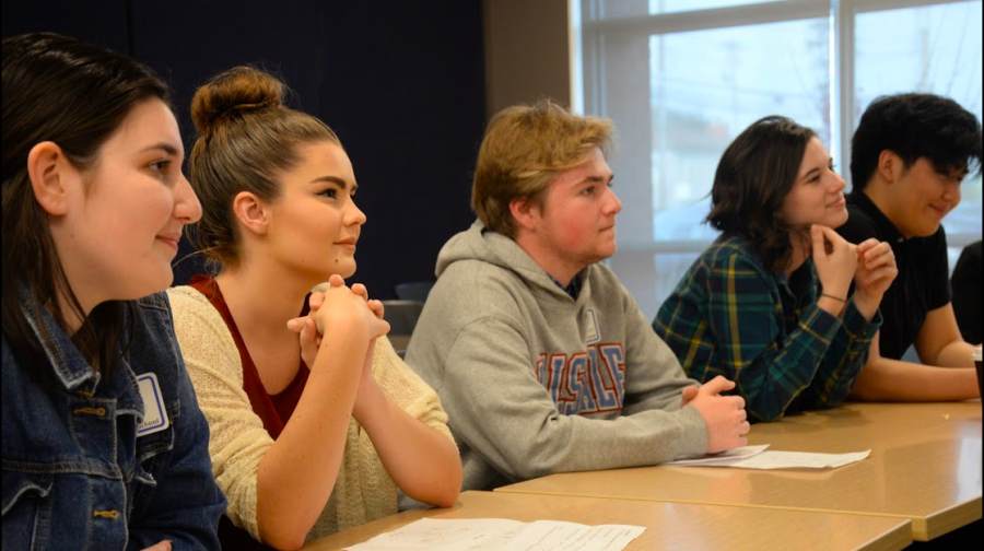 Students from Hillsdale's Advanced Drama class attend the Arts, Media and Entertainment Career Technical Education day.
