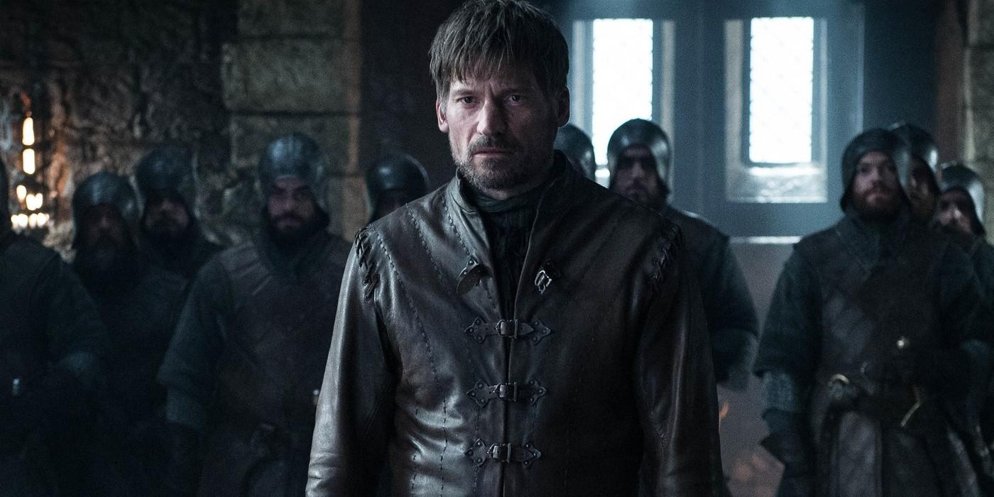 Jamie Lannister testifies in front of the Stark family.