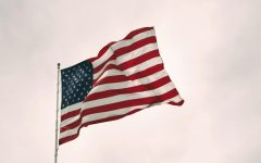 Evolution of American flag raising red flags