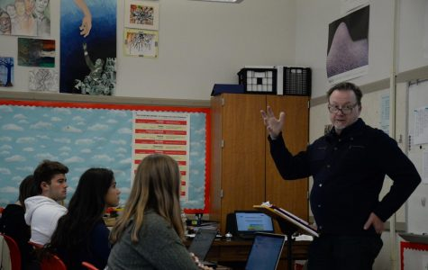 Mr Burke teaches for his 28th and final year