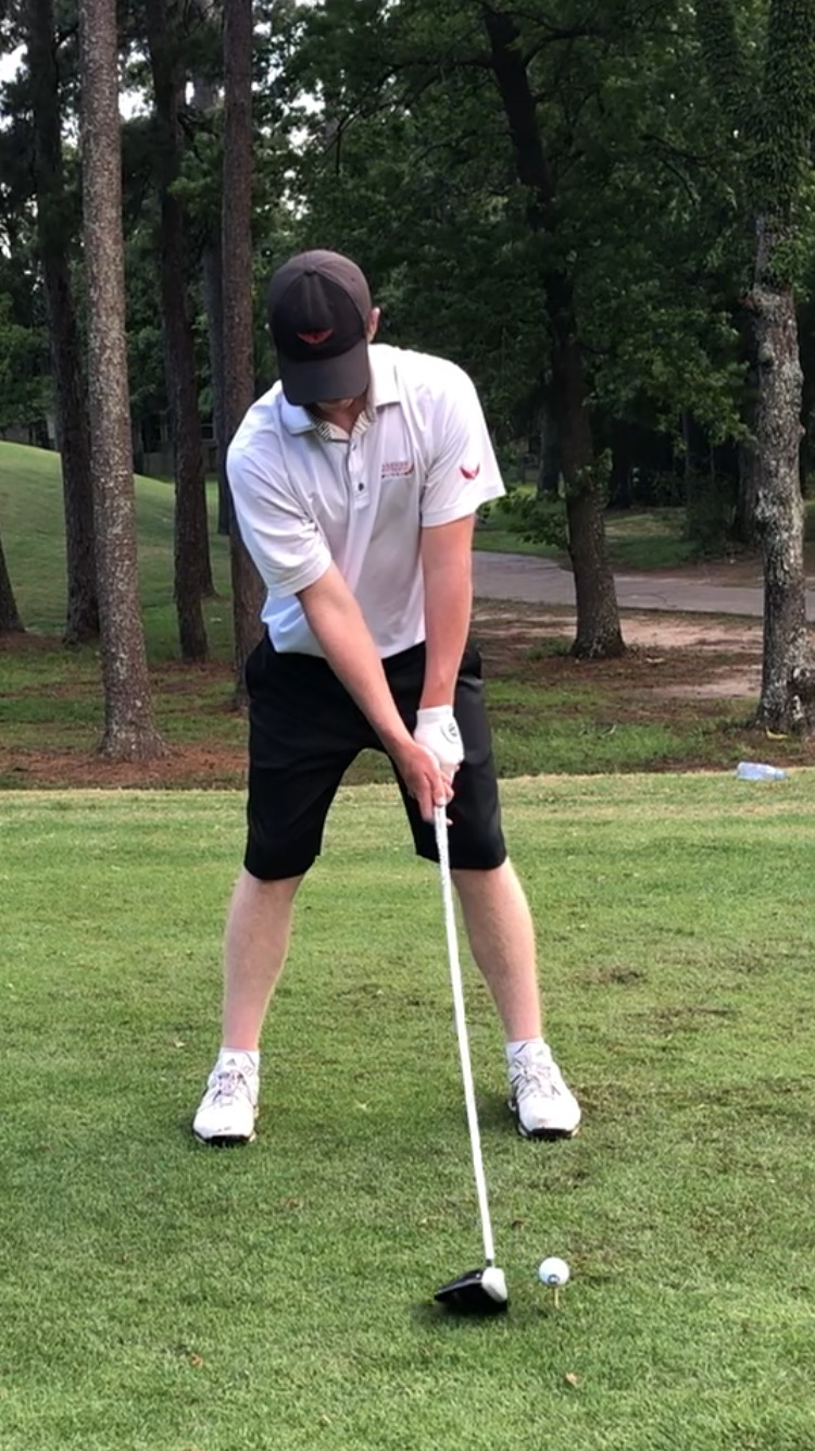 Mcgovern gears up for a drive at the beginning of a match.
