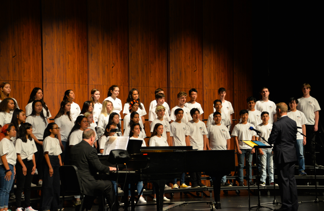 The Chamber Singers performed for the first time this year on October 4.