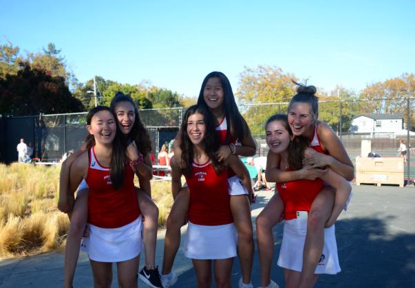 Tennis team says goodbye to their departing seniors on senior night