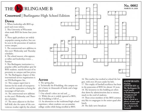 BHS Edition Crossword