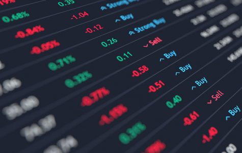 A list depicting several stocks and the state of their current values.