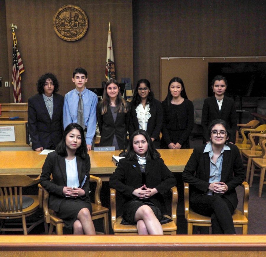 Mock Trial members pose for the Mock Trial County Competitions.