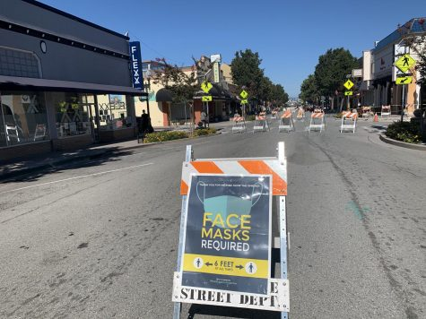 Broadway is closed to cars throughout the weekend to enhance safety for residents in Burlingame.