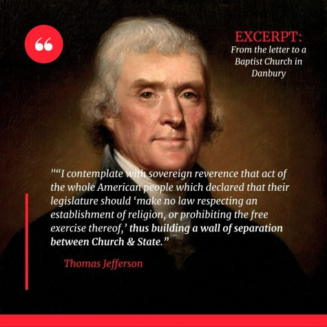 Excerpt from Thomas Jefferson's letter to a Baptist Church in Danbury.