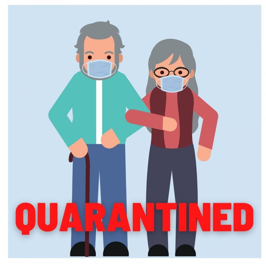 Elderly battle isolation in quarantine