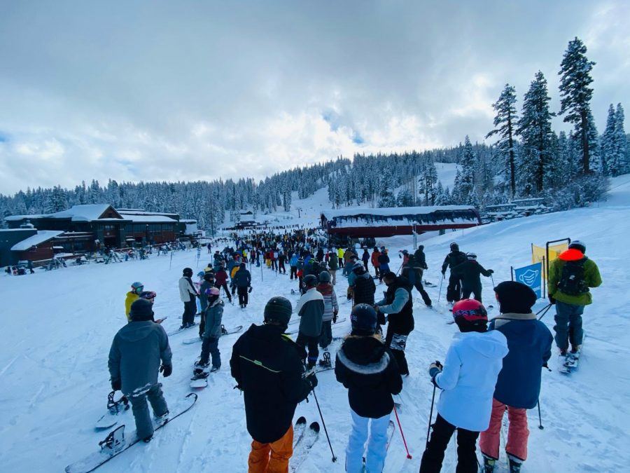 Tahoe dumped with snow and tourists