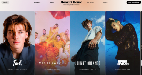 Moment House offers tickets for a variety of virtual concerts with many different artists.