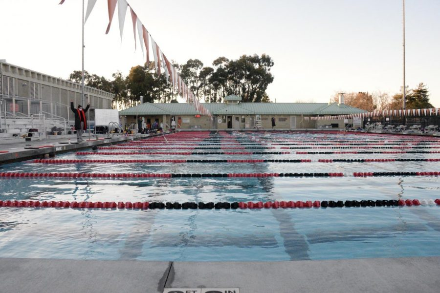 SMUHSD swim teams swam in separate pools for meets, which took away from the competition for some swimmers.