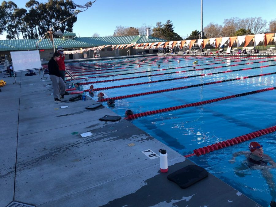 Swimming, one of the many extracurricular activities taking place at Burlingame, has begun with safety precautions.