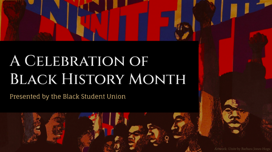 The title slide of the BSU's Black History Month presentation which was shared with the Burlingame High School community on Canvas and via email at the beginning of February.