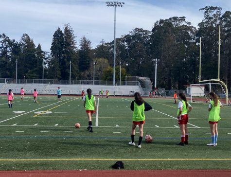 The girls varsity soccer team started the season on March 15 and are practicing for their upcoming games.