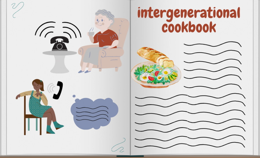 The intergenerational cookbook project allows isolated populations to bond and make lasting connections, while also producing a tangible product.