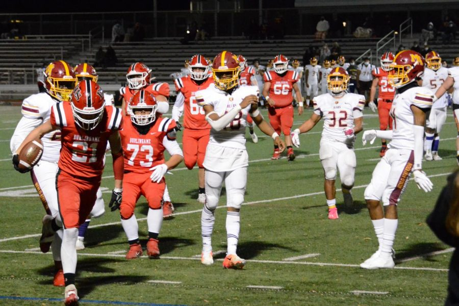 Burlingame's football season ends on a high note