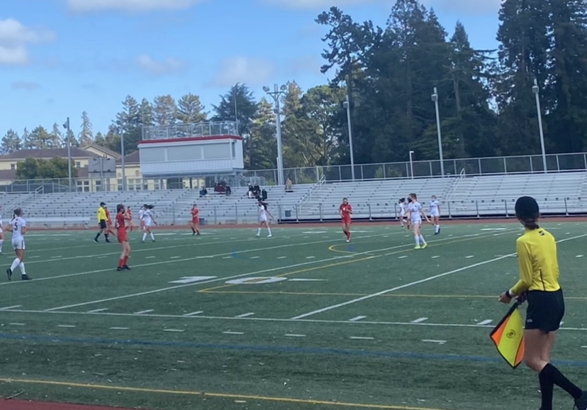 A late goal leads girls varsity soccer team to their first loss of the season