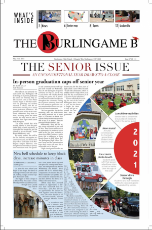 The front cover of the May Senior Issue 2021. Cover design by Allison Szetu.