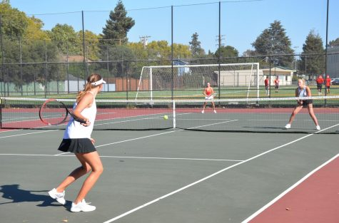 Girls' tennis team undergoes cuts for the first time